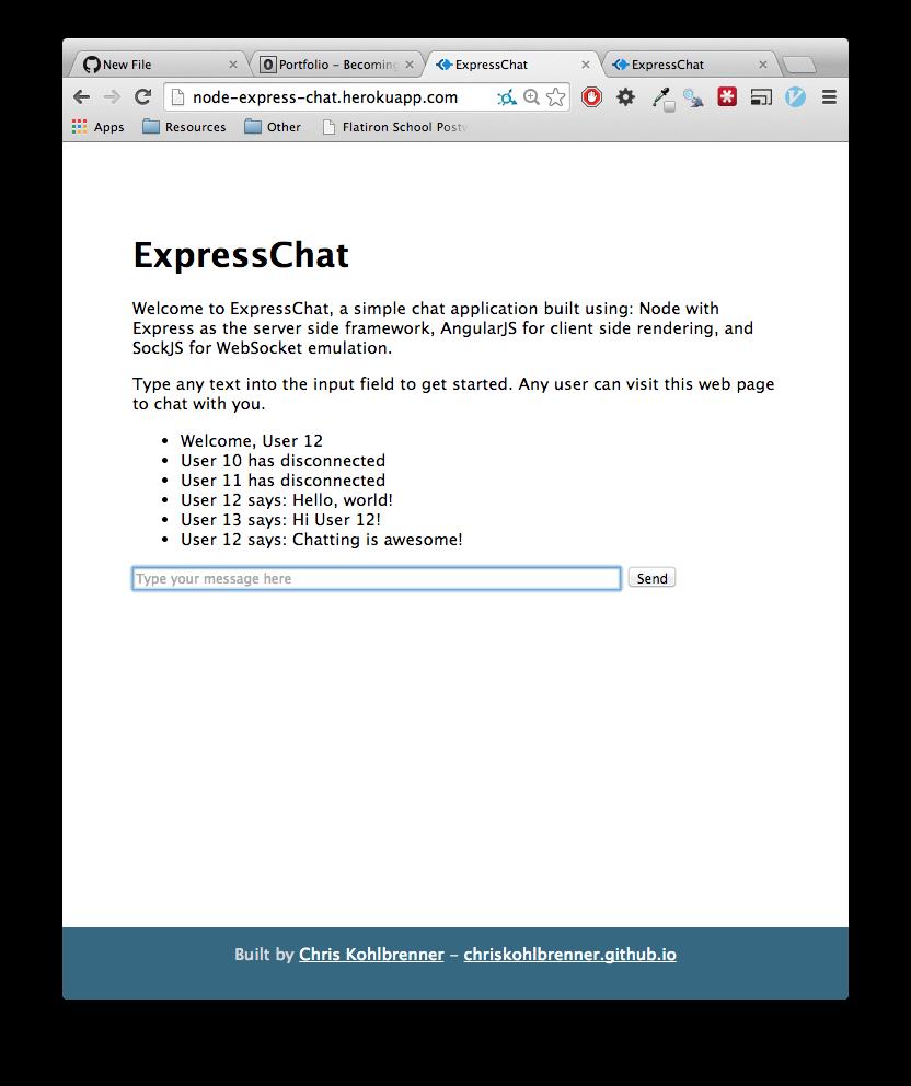 JavaScript Frameworks: On Node js, Express, AngularJS, and